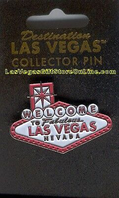 Las Vegas Welcome Sign Lapel Pink Collector Pin Hat