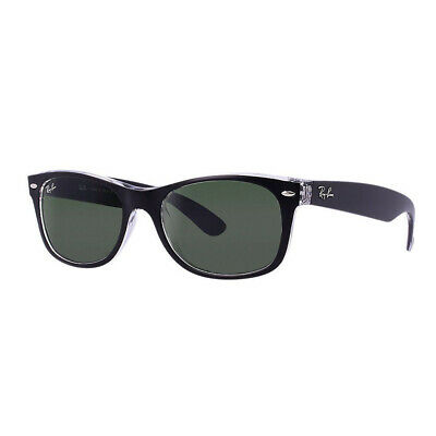 Ray-Ban New Wayfarer Color Mix Sunglasses 52mm (Trans. Black/Green Classic G-15)