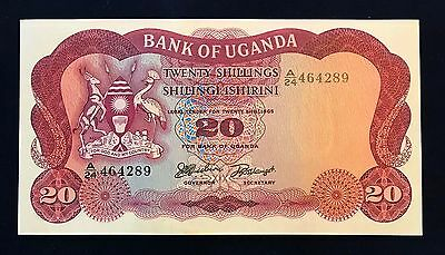 Uganda 20 shillings 1966 Coat of Arms - P3 - UNC