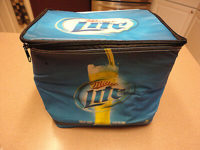 Miller Lite Officially Licensed Soft Sided Six Pack Zippered Cooler NEW