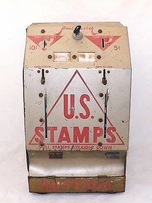 Vintage Original U.S. Stamps Postmaster 5-10 Cent Dispenser-La Grange, Illinois