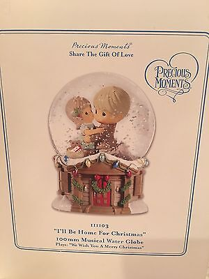 Precious Moments Share The Gift Of Love, Plays Music, Water Globe NIB 111103
