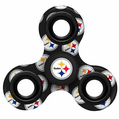 Pittsburgh Steelers Football Multi Logo Printed NFL 3 Way Hand Fidget Spinner