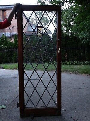 Vintage Antique Architectural Stained Glass Leaded Window