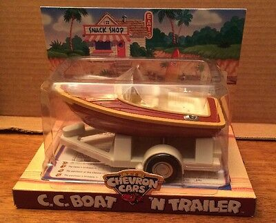 1997 Chevron Cars C.C. Boat & Trailer New In Package Ages 5+