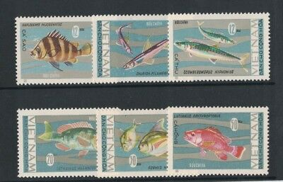 1967 Vietnam Fish SG N 482/7 Muh Set 6