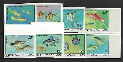 1981 Vietnam Fish SG 386/93 Imperforated Muh Set 8 Rare