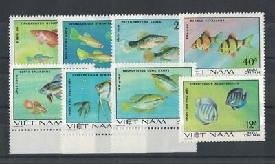 1981 Vietnam Fish SG 386/939 Muh Set 8