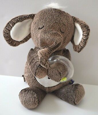 MANHATTAN Toy Plush Brown Gray ELEPHANT Rattle Ring Knot Trunk Lovey 2013