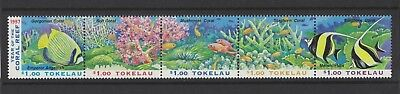 1997 Tokelau Islands Coral Reef SG 268/72 Muh Set