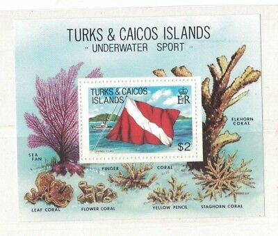 1981 Turks & Caicos Islands Corals SG 664 Muh MS