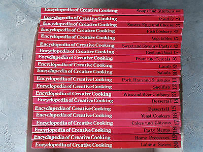 Bulk Lot~Encyclopedia of Creative Cooking~20 Volumes~Pick-Up Adelaide 5109