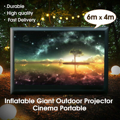 6m x 4m Movie Screen Inflatable Giant Outdoor Projector Cinema Theatre Backyard