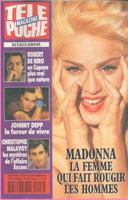 MADONNA_JOHNNY DEPP_ANDIE McDOWELL  FRENCH MAG TÉLÉ POCHE TV  (1986 APRIL)