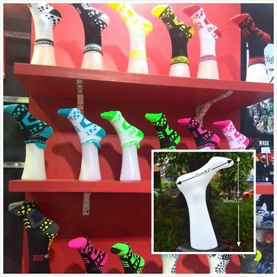 4 x White Woman Foot Mannequin Model Shoe Sock Boot Store Fitting Display Stand