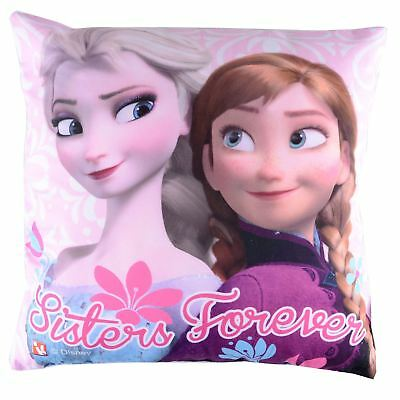 Childrens Disney Frozen Sisters Forever Cushion Cover With Inner Soft Gift Toy
