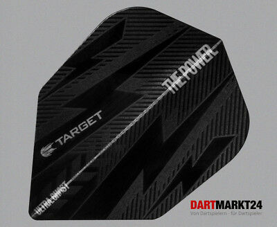 6 Target Phil Taylor Power Bolt Black No6 Flights  100 Micron Dart