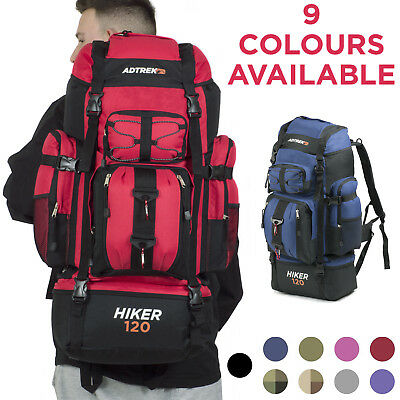 Adtrek 120L Hiker Backpack Extra Large Hiking/Camping Luggage Rucksack