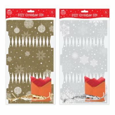 Make Your Own DIY Christmas Crackers Silver Or Gold To Personalise Xmas Table