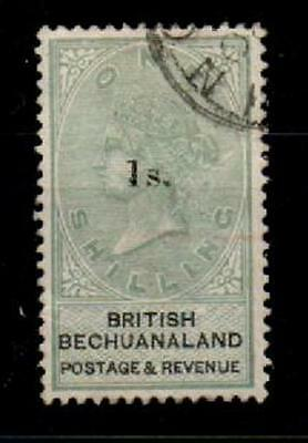 Bechuanaland Sg28 1888 1/= On 1/= Green & Black Used