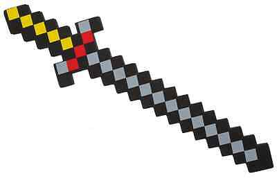Pixel 8-bit EVA Sword Mine pixelated Craft~Fancy Dress Role Play