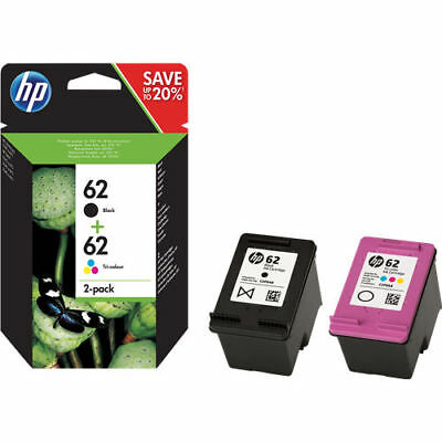 Original HP 62 Black & Colour Ink Cartridge Combo Pack For ENVY 5544 Printer