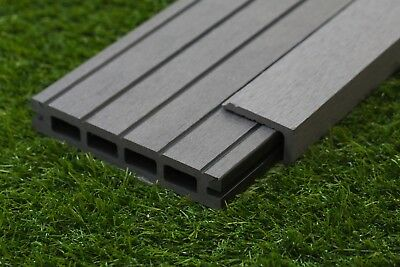 Composite decking boards in graphite grey just for 2 4 metre decking boards