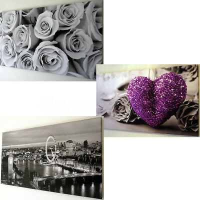 CANVAS WALL ART PICTURE LARGE 18'' X 32'' Print Modern London Rose Home Decor