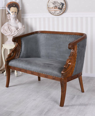 Sofa Josephine Bench Biedermeier COUCH MAHOGANY polstercouch Antique