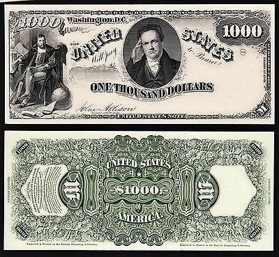 2 Proof Prints or Intaglio Impressions by BEP - Front & Back of 1878 $1,000
