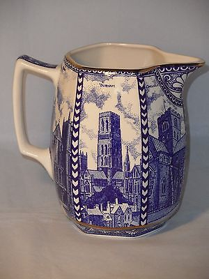Ringtons Tea Large Jug By Wade Ceramics Cathedrals Blue & White 16cm Tall VGC