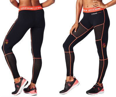 STRONG By Zumba Let It Sync In Paneled Mesh Leggings Z1S00057