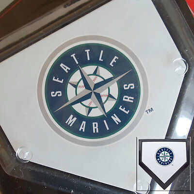 2 x Seattle Mariners MLB Authentic Pocket Mini Home Plate Coasters