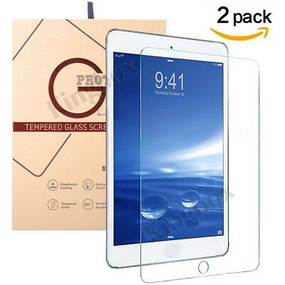 2 PCS For Apple iPad 9.7 / Pro 10.5 / Air / Mini 1/2/3/4 9H Tempered Glass Film
