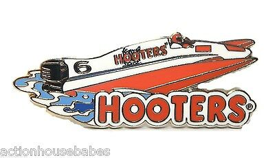 Hooters Restaurant Racing Water Speed Boat #6 With Hootie Driving Lapel Pin