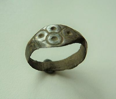 Ancient medieval bronze ring (209).