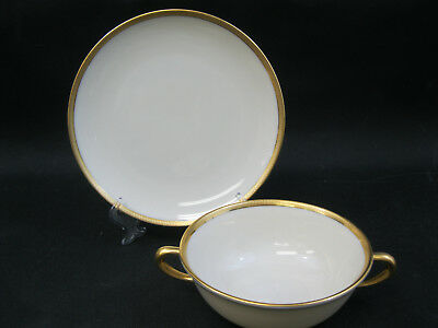Lenox China Windsor~(1)~Cream Soup Bowl and Plate ~Mix with Tuxedo ~PERFECT