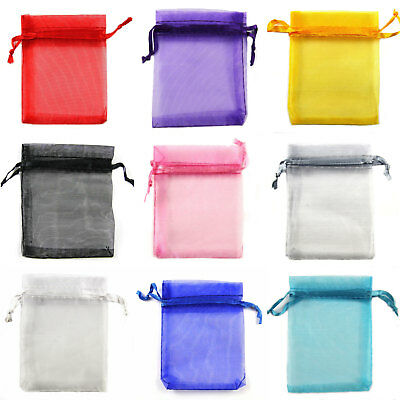 Large Organza Favour Gift Bags Jewellery Pouch Xmas Wedding Party 12x17-15x36cm