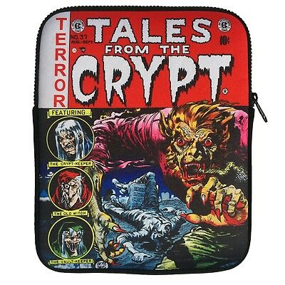 Tales From The Crypt Zip Pouch Tablet Sleeve Kreepsville Horror Fashion Acc Bag