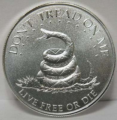 2017 Don't Tread On Me .999 SIlver Medal - Live Free or Die - 1 oz Round - JX658