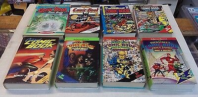 """8 - OVERSTREET Comic Book """"HARD COVER"""" Price Guides 23,24,26,27,28,30,31,33"""