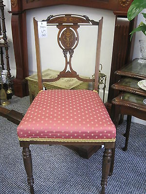 Lovely Rosewood Sheraton revival salon / bedroom chair, with beautiful intricate