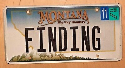 """Montana  Vanity License Plate """" Finding """" Lost Find Found  Mt"""