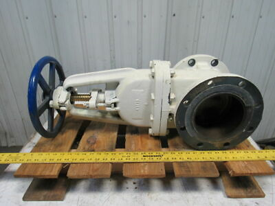 "Nibco F-617-0 Rising Stem Gate Valve 6"" Flange Class 125 Iron Body"