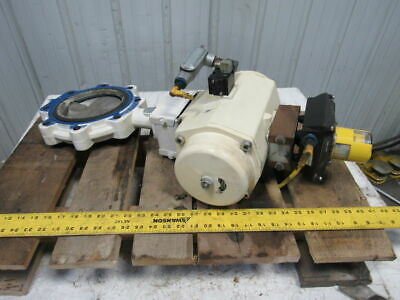 """EL-O-Matic ESA 350/3A Valve Controller W/Grinell LC-8170-3 6"""" Butterfly Valve"""