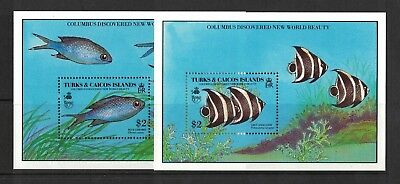 1990 Turks & Caicos Islands Fish SG MS 1036 Muh