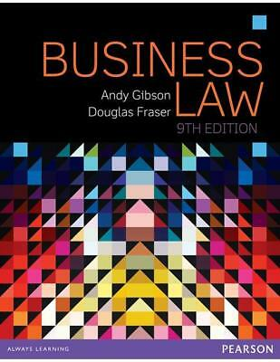 NEW Business Law By Andy Gibson Paperback Free Shipping