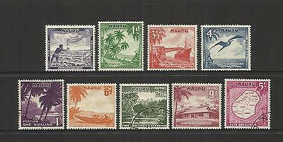 Nauru ~ 1954 Qe Ii Definitives (Simple Set)