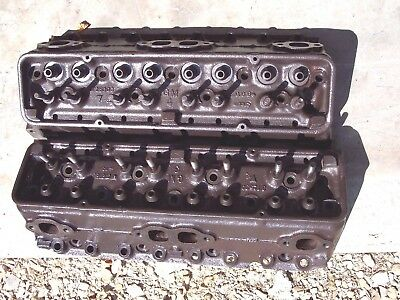 1956 56 Corvette Chevy Bel Air Del Ray 265 power pack cylinder heads 3725306