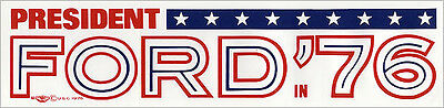 Large 1976 Gerald FORD IN '76 Bumper Sticker (4845)